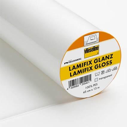 LAMIFIX Bügelfolie transparent 45cm breit . fixierbare und abwaschbare Bügelfolie