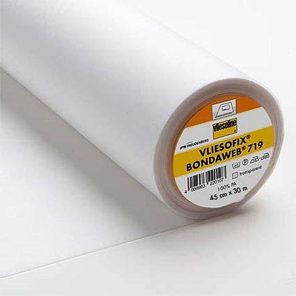 Vliesofix Zweiseitig aufbügelbar Transpartent 45cm breit