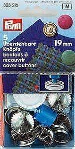 Überziehbare Knöpfe 19MM silberfarbig mit Werkzeug Bliste A 5 STK (6)